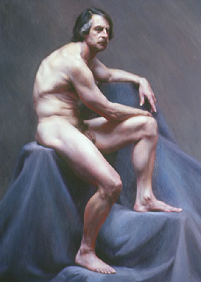 Painting of male figure